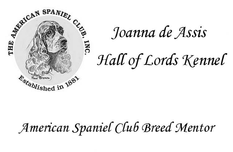 Cocker Spaniel Americano. Mentor Oficial de la Raza Cocker Spaniel Americano