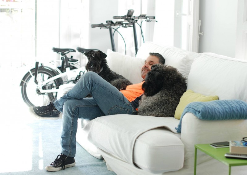 Kerry Blue Terrier. Javi con Clarita & Camilo