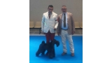 Kerry Blue Terrier. Northbound Hymn To La Cadiera. Exc. 1ª C.A.C. B.O.B..